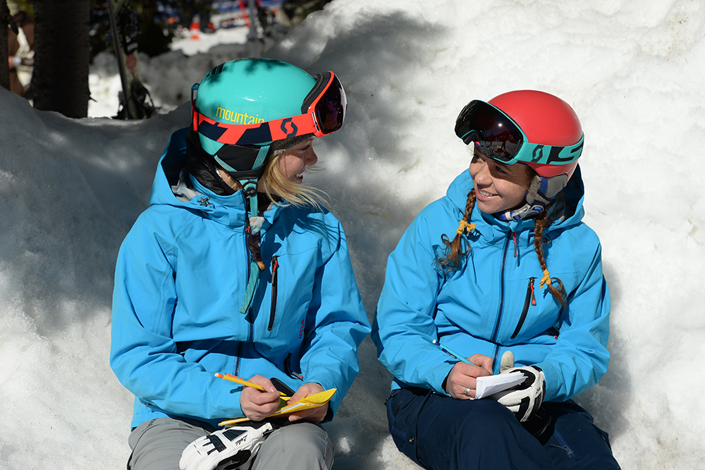 Photograph Lee Cohen Ski Testers Piper and Cait Morgan